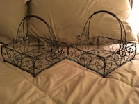 Black metal scrolled table decor 15 mi