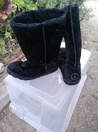 pair of black suede boots Marina, 93933