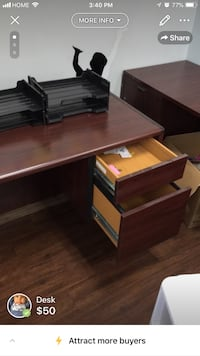 Corner desk solid wood  Roswell, 30075