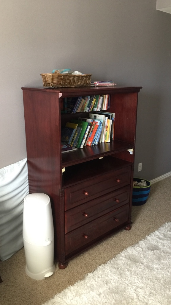 used bellini brown wooden tall changing table for sale in frisco letgo rh us letgo com