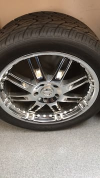 Aftermarket wheels and tires off truck Louisville