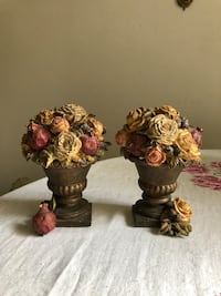 Golden rose & pomegranate bronze book ends Tustin, 92780