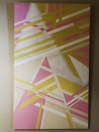 "Extra large abstract geometric painting on canvas 48""x80"" Toronto"