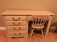 white wooden single pedestal desk Vaughan, L4H 1V1
