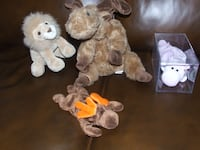 $10 TY BEANIE BABY, TY MOOSE, GUND LION AND BEAR BY MIDWEST NIAGARAFALLS