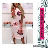 women's white and pink floral traditional dress Mississauga, L5W 1K8