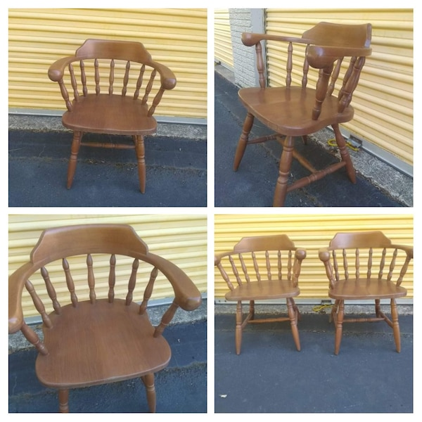 Used 2 Wooden Captains Chairs For Sale In Richmond