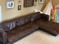 Brown low leather couch  Charlotte, 28215