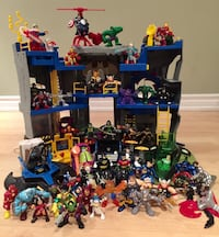 Marvel and DC Superhero and Batcave Playset