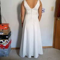 White formal floor length gown