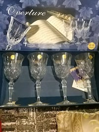 Set of 8 beautiful crystal glasses Laval, H7G 1G2