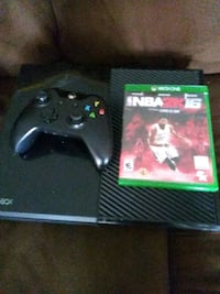 black Xbox One console with controller and game case Hyattsville, 20783