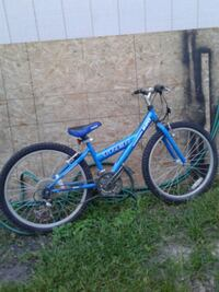blue and white full-suspension bike Hobart, 46342