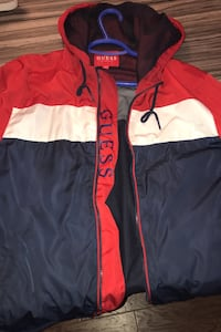 Guess wind breaker large  worn a few time's can negotiate price