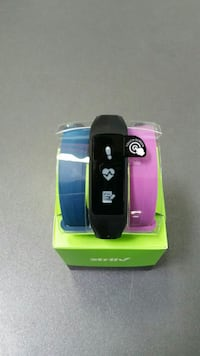 three black, blue, and pink activity trackers Joliet, 60431