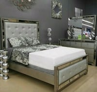 Queen Bedroom frame dresser mirror night stand  Las Vegas, 89109