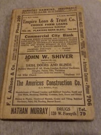 1921 Business Directory for Sumter County, Ga.  Americus, 31719