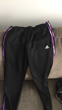 Black and purple adidas track pants size L Langley, V2Y 2A4