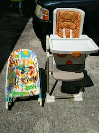 Fisher price grow with me high chair and bouncer Casselberry, 32707