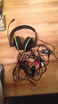Black and green turtle beach xl1 headset