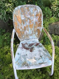 Vintage metal lawn chair and table Middleton, 53562
