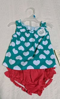 NWT- Baby O-3m 2pc Heart Outfit Vancouver, V6G 2C9
