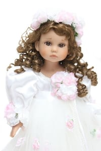 "Key to my heart by linda rick # 1002 ""lovely as can be doll"" limited edition #26/500 made North Bergen, 07047"