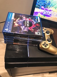 PS4 500GB - 1 controller and 6 games Mississauga, L4Z 2L9