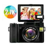 Digital Camera/Camcorder FHD 2.7K 24MP with Flip Screen NEW ½ RETAIL
