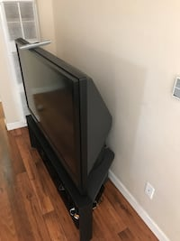 "Black 54"" tv with remote, attached stand and DVD player San Diego, 92109"