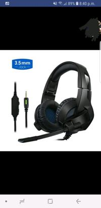black gaming headset 3.5mm Terrebonne, J6X