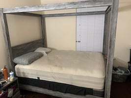Grey Poster Canopy Bed