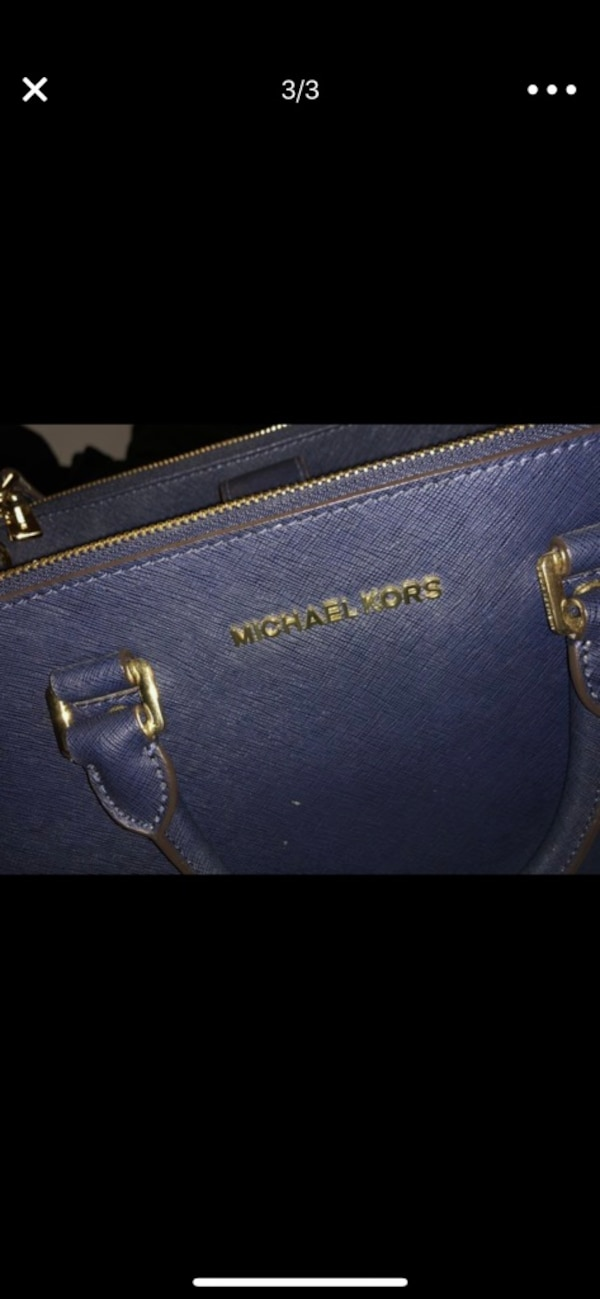 ad4603258e6c6c Used blue leather Michael Kors tote bag for sale in Los Angeles - letgo