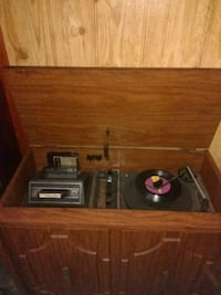 Vintage Record Player Antique Stereo Console