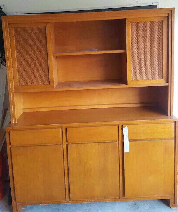 Sale Furniture Houston: Used Antique Conant Ball China Cabinet/Hutch For Sale In