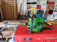 green and black John Deere chainsaw Orillia, L3V 4V4