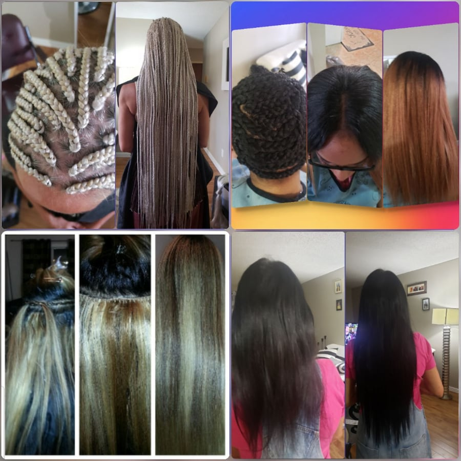 Weave in and micro beading hair extensions