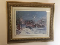 brown wooden framed painting of house Toronto, M3L