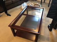 Glass Panel Coffee Table  null