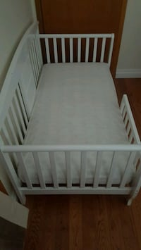 Toddler Bed with Mattress. Crib sheet NOT included