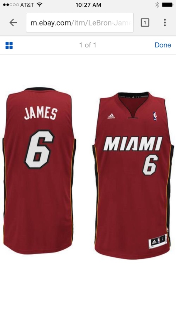 35fbd57452e4 Used LeBron James Miami Heat adidas Swingman Alternate Jersey - Red (X-LARGE)  for sale in Irvine - letgo