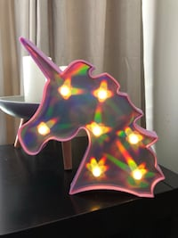 Pink Unicorn Night Light w/New Batteries