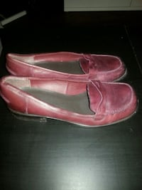 pair of pink slip-on shoes Calgary, T2P 0V6