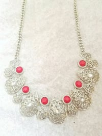 gold and red beaded necklace Bristow