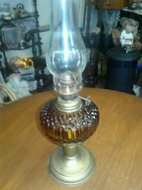 clear glass and brass table lamp Duncannon, 17020