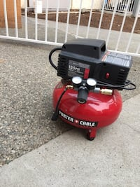 red and black Porter Cable air compressor Abbotsford, V2S