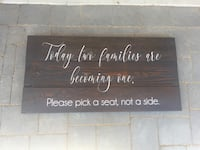 Wedding sign rustic - pick a seat not a side