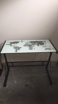 white and black wooden table 3487 km
