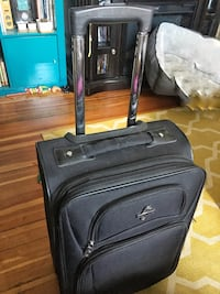 Atlantic Carry on Spinner Luggage - Black- Suitcase