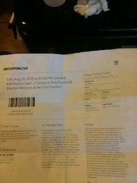 Rob zombie and Marilyn Manson lawn ticket Tempe, 85282